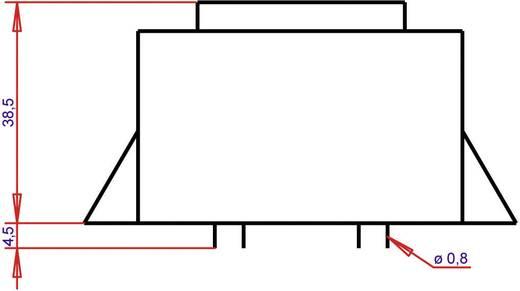 EI 54/18,8 Nyák transzformátor, peremmel, 230 V / 15 V 1066 mA 16 VA Gerth