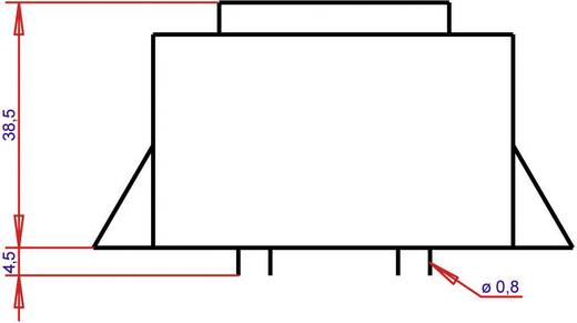 EI 54/18,8 Nyák transzformátor, peremmel, 230 V / 2 x 6 V 1333 mA 16 VA Gerth