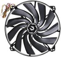 Számítógépház ventilátor 200 x 200 x 20 mm, fekete, Bitfenix BFF-SCF-20020KK-RP (BFF-SCF-20020KK-RP) Bitfenix