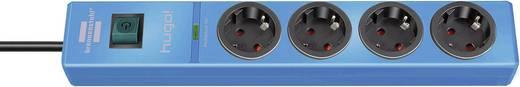 Túlfeszültségvédős hálózati elosztó 4 részes, kék, Brennenstuhl 1150610384