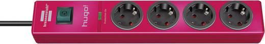Túlfeszültségvédős elosztó kapcsolóval, 4 részes, piros, Brennenstuhl 1150610374