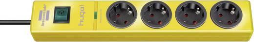 Túlfeszültségvédős elosztó kapcsolóval, 4 részes, sárga, Brennenstuhl 115061034