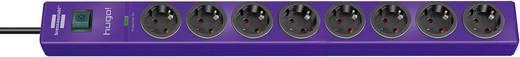Túlfeszültségvédős hálózati elosztó kapcsolóval, 8 részes, lila, Brennenstuhl 1150610338