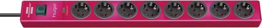 Túlfeszültségvédős elosztó kapcsolóval, 8 részes, piros, Brennenstuhl 1150610378