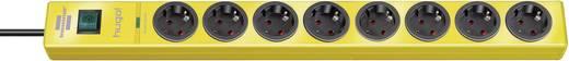 Túlfeszültségvédős elosztó kapcsolóval, 8 részes, sárga, Brennenstuhl 1150610368