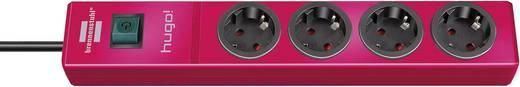 Hálózati elosztó kapcsolóval, 4 részes, piros, Brennenstuhl 1150610174