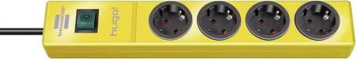 Hálózati elosztó kapcsolóval, 4 részes, sárga, Brennenstuhl 1150610164