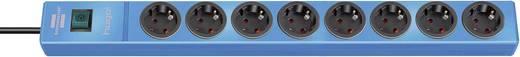 Hálózati elosztó kapcsolóval, 8 részes, kék, Brennenstuhl 1150610188