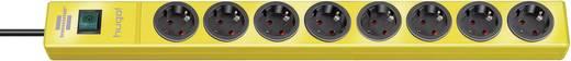 Hálózati elosztó kapcsolóval, 8 részes, sárga, Brennenstuhl 1150610168