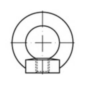 TOOLCRAFT 109395 Gyűrű anyák M12 DIN 582 Acél 10 db TOOLCRAFT