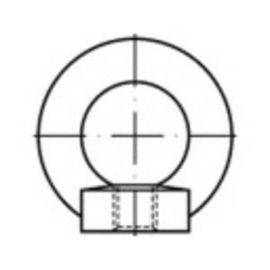 TOOLCRAFT 109451 Gyűrű anyák M42 DIN 582 Acél Galvanikusan cinkezett 1 db TOOLCRAFT