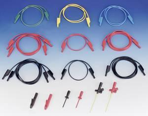 Szigetelt mérőkábel, mérőzsinór kezdő készlet, toldható 4mm-es banándugós kábelekkel 1000V-ig 1m SKS Hirschmann 109416 SKS Hirschmann