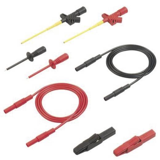 Mérőkábel, mérőzsinór készlet 4mm-es banándugós kábellel, mérőtűkkel, mérőcsipeszekkel 1m SKS Hirschmann PMS 2600