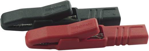 Krokodilcsipesz pár 4mm-es banándugó csatlakozással fekete, piros SKS Hirschmann AK 2 S Set