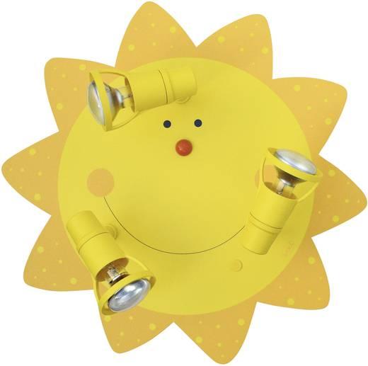 Mennyezeti lámpa, Sonne E14 27 W Waldi-Leuchten Nap Sárga