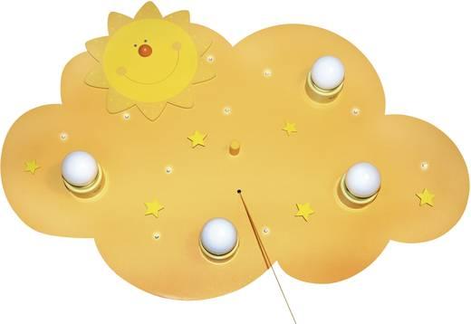 Mennyezeti lámpa, Sonne , LED E14 36 W Waldi-Leuchten Felhő/Nap Sárga