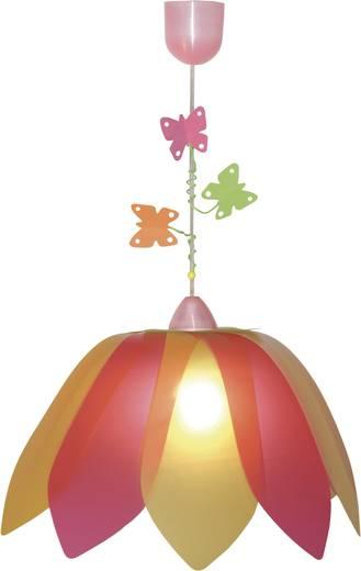 Mennyezeti függőlámpa, színes pillangókkal, E27 75 W Blüte Schmetterlin