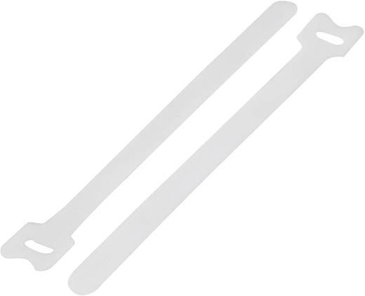 Tépőzár kábelkötegelő kötegeléshez, bolyhos és horgos fél (H x Sz) 135 mm x 12 mm, fehér KSS MGT-135WE 1 db