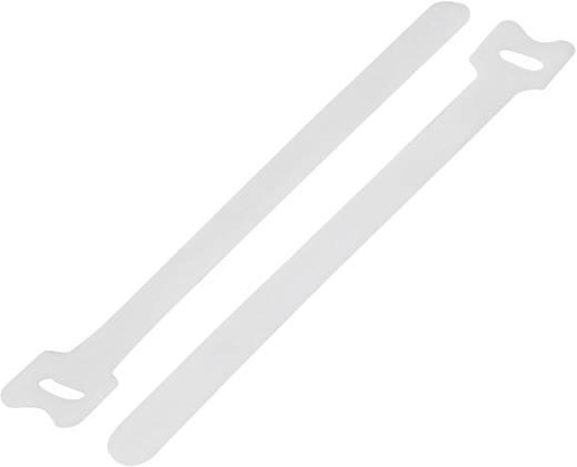 Tépőzár kábelkötegelő kötegeléshez, bolyhos és horgos fél (H x Sz) 310 mm x 16 mm, fehér KSS MGT-310WE 1 db