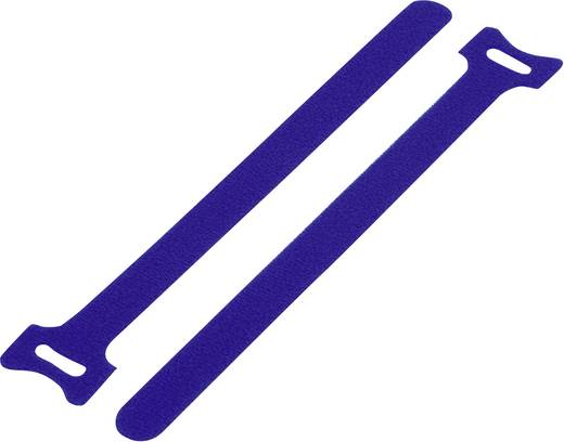 Tépőzár kábelkötegelő kötegeléshez, bolyhos és horgos fél (H x Sz) 135 mm x 12 mm, kék KSS MGT-135BE 1 db