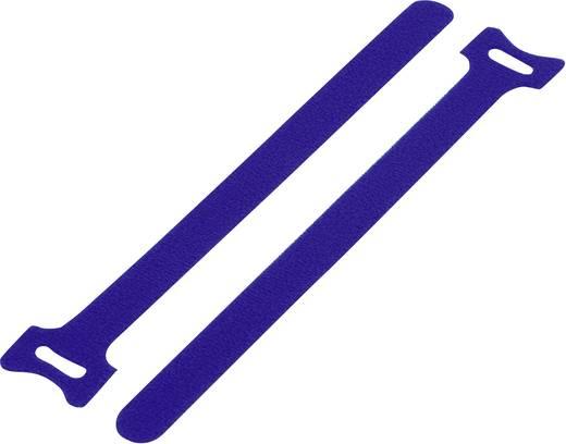 Tépőzár kábelkötegelő kötegeléshez, bolyhos és horgos fél (H x Sz) 180 mm x 12 mm, kék KSS MGT-180BE 1 db