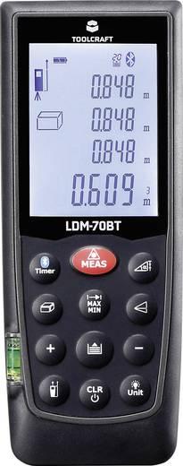 Lézeres távolságmérő 70 m-ig, Bluetooth-al, Toolcraft LDM-70BT
