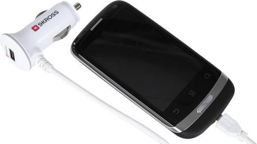 Szivargyújtós USB töltő, Lightning csatlakozó kábellel, max.2 A Skross Midget Plus Lightning