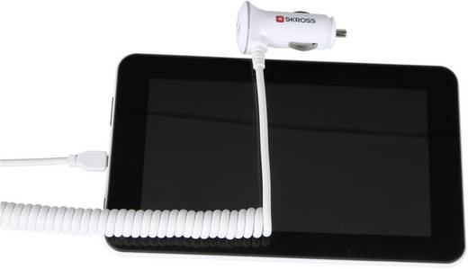 Szivargyújtós USB töltő, mikro USB kábellel, max.2,1 A Skross Midget Plus Micro USB