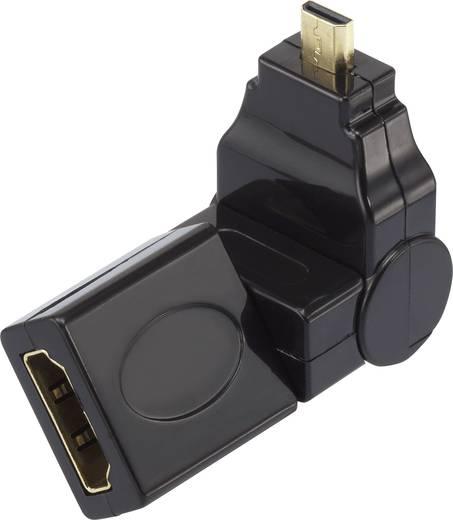 HDMI adapter [1x HDMI csatlakozó Micro D 1x HDMI-csatlakozó], forgatható, Speaka Professional