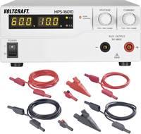 Labortápegység, szabályozható, 600 W 1 - 60 V/DC / 0 - 10 A + csatlakozó vezeték készlet VOLTCRAFT HPS-16010 VOLTCRAFT