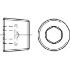 TOOLCRAFT 112672 Zárócsavar 1/8 coll Belső hatlapú DIN 906 Acél Galvanikusan cinkezett 100 db TOOLCRAFT