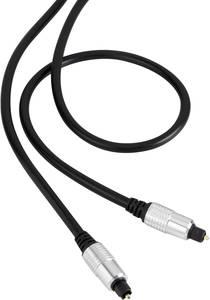 Digitális optikai audio kábel, 1x Toslink dugó - 1x Toslink dugó, 3 m, fekete, SuperSoft, Speaka Professional (SP-4655392) SpeaKa Professional