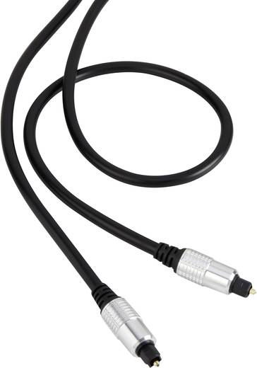 Digitális optikai audio kábel, Toslink dugó - dugó, 1,5 m, fekete, SpeaKa Professional