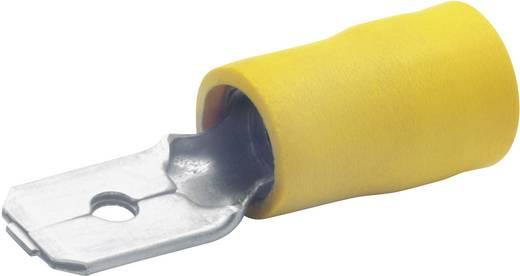 Laposérintkezős dugó, 6,3 mm / 0,8 mm 180°, részlegesen szigetelt, sárga Klauke 850SB 100 db