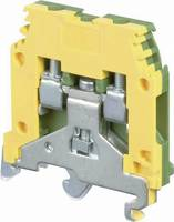 ABB 1SNA 165 113 R1600 Védővezetékes kapocs 6 mm Csavaros csatlakozó Kiosztás: PE Zöld, Sárga 1 db ABB