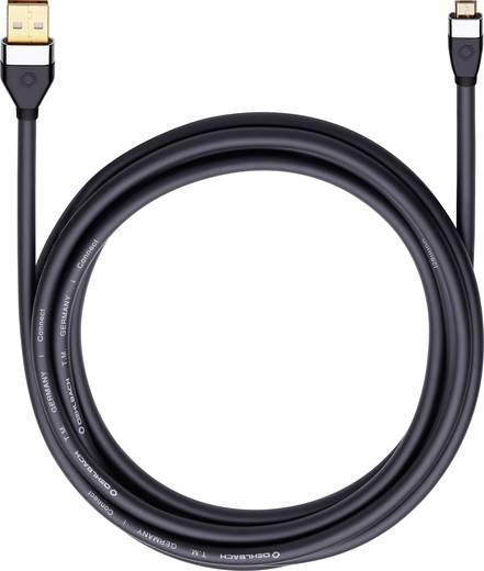 Számítógép Csatlakozókábel [1x USB 2.0 dugó A - 1x ] 0.50 m Fekete Oehlbach