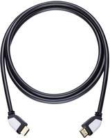 HDMI Csatlakozókábel [1x HDMI dugó - 1x HDMI dugó] 7.5 m Fekete Oehlbach Shape Magic (42457) Oehlbach