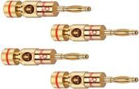 Hangszóró csatlakozó dugó, egyenes pólusszám: 2 Gold Oehlbach Banana B2 4 db (3002) Oehlbach