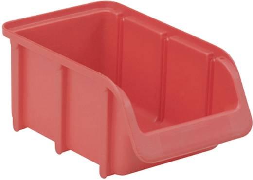 Üres tároló doboz, csavartartó doboz 165 mm x 100 mm x 75 mm piros színű Alutech