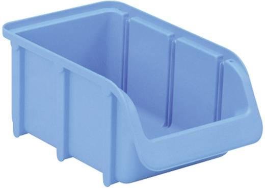 Üres tároló doboz, csavartartó doboz 165 mm x 100 mm x 75 mm kék színű Alutech