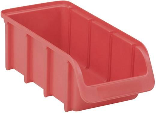 Üres csavartartó doboz 215 mm x 100 mm x 75 mm, piros színű 2L méretű Alutech 682100