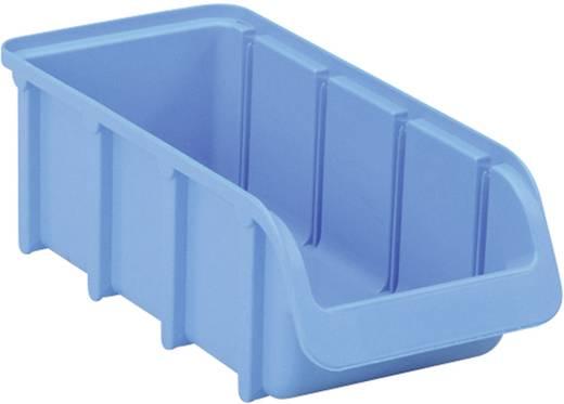 Üres csavartartó doboz 215 mm x 100 mm x 75 mm, kék színű 2L méretű Alutech 682300