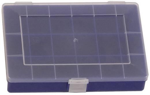 Üres alkatrésztároló doboz, zárható 18 rekeszes Alutec 608300