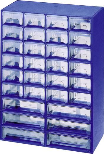 30 fiókos alkatrésztároló szekrény, 406 x 300 x 147 mm, Alutec
