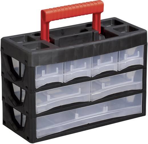 Hordozható műanyag fiókos tároló 315 x 140 x 210 mm Alutec 56650