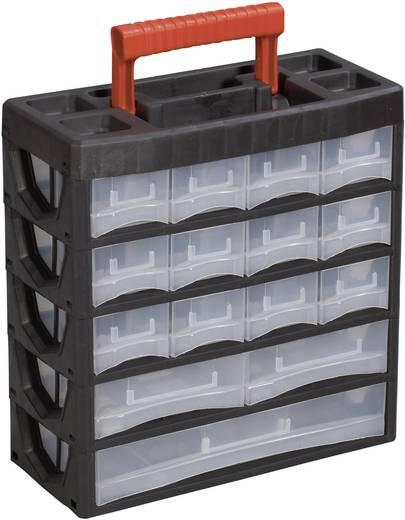 Műanyag fiókos alkatrésztároló, hordozható alkatrésztároló 315 x 140 x 325 mm Alutec 56660