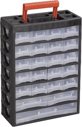 Műanyag fiókos alkatrésztároló, hordozható alkatrésztároló 315 x 140 x 445 mm Alutec 56670