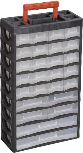 Műanyag fiókos alkatrésztároló, hordozható alkatrésztároló 315 x 140 x 565 mm Alutec 56675