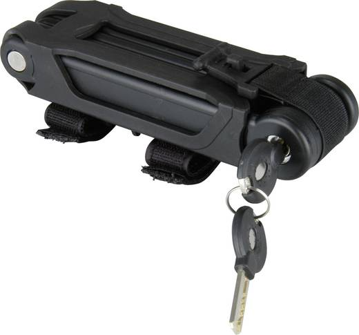 Kerékpárzár, fekete, összecsukható, proFEX 65864