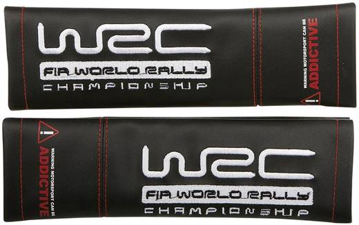Biztonsági öv párna, fekete, bőr utánzat, 2 db, WRC, Unitec